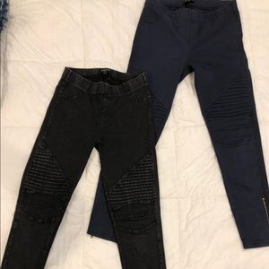 Pants - Denim moto style legging